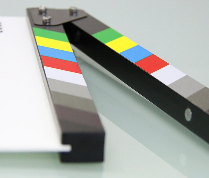 Filmklappa i närbild